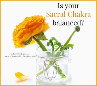 sacral chakra balanced