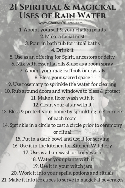 21 Spiritual & Magickal Uses of Rain Water